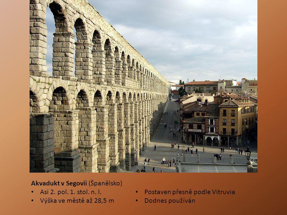 Akvadukt v Segovii (Španělsko)