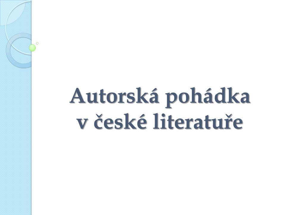 Autorská pohádka v české literatuře