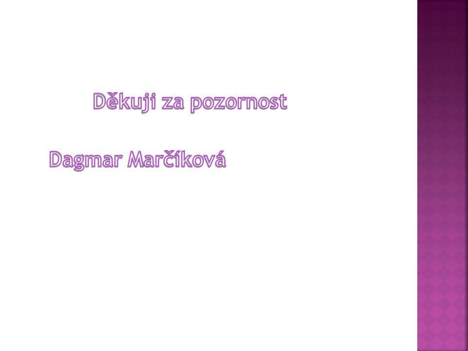 Děkuji za pozornost Dagmar Marčíková