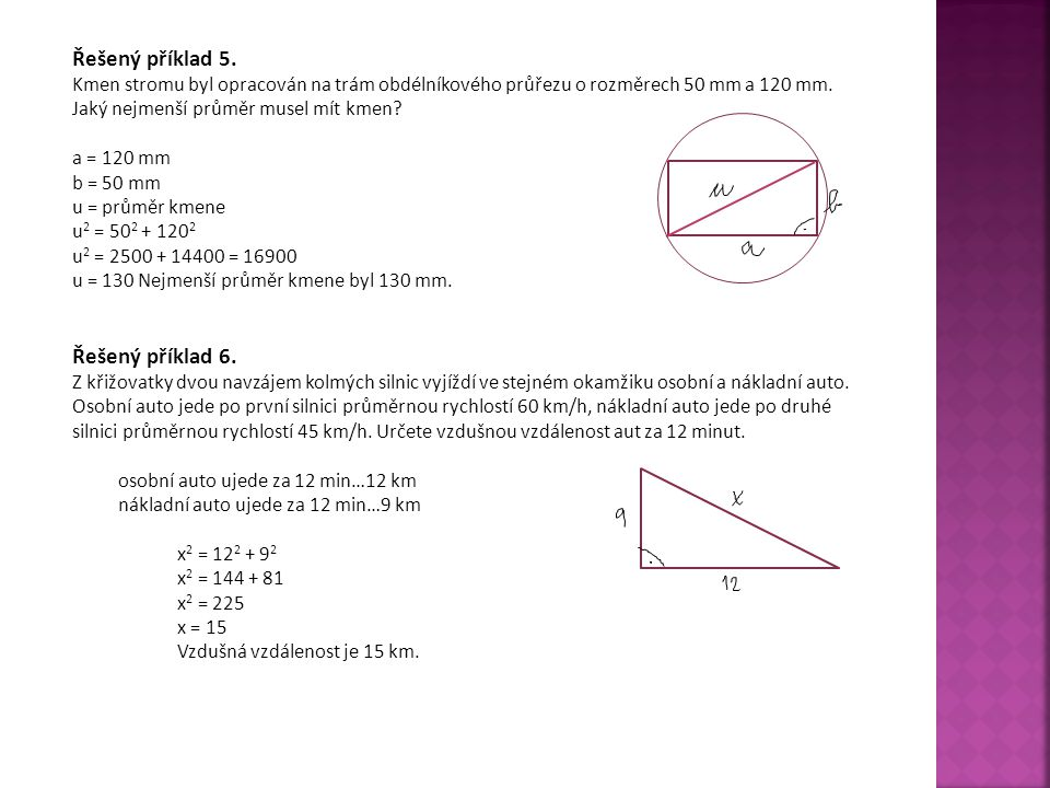 Řešený příklad 5. Řešený příklad 6.