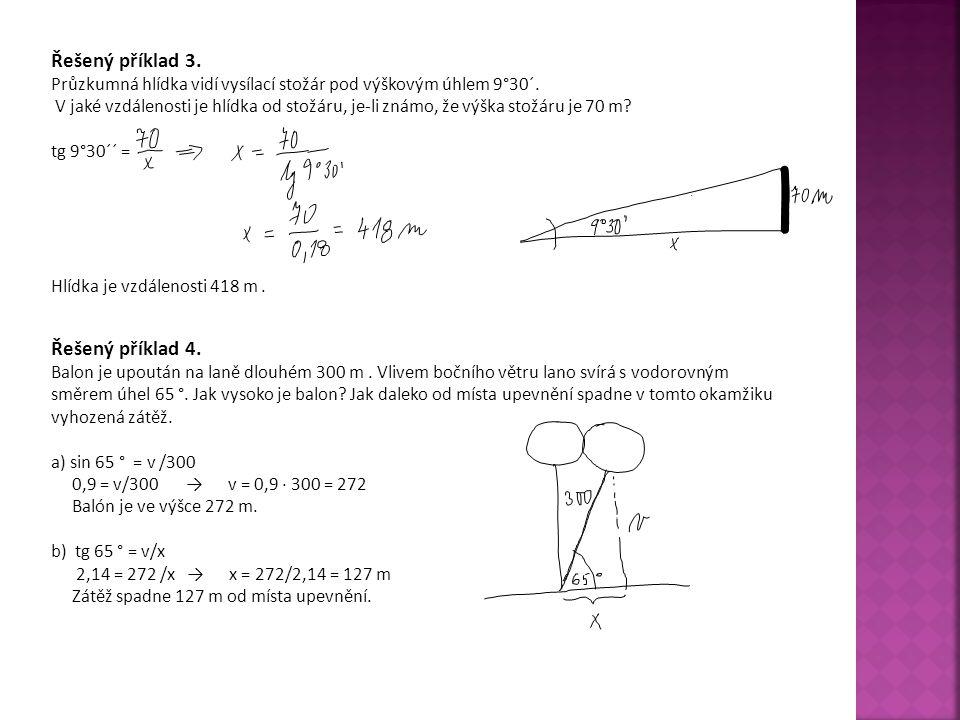 Řešený příklad 3. Řešený příklad 4.