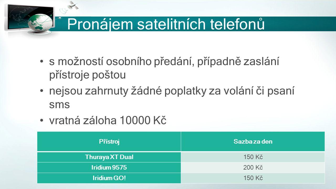 Pronájem satelitních telefonů