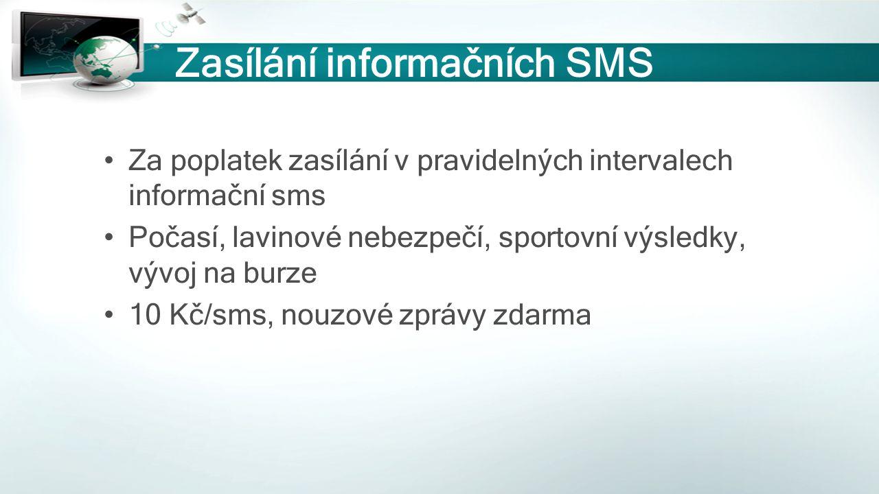 Zasílání informačních SMS