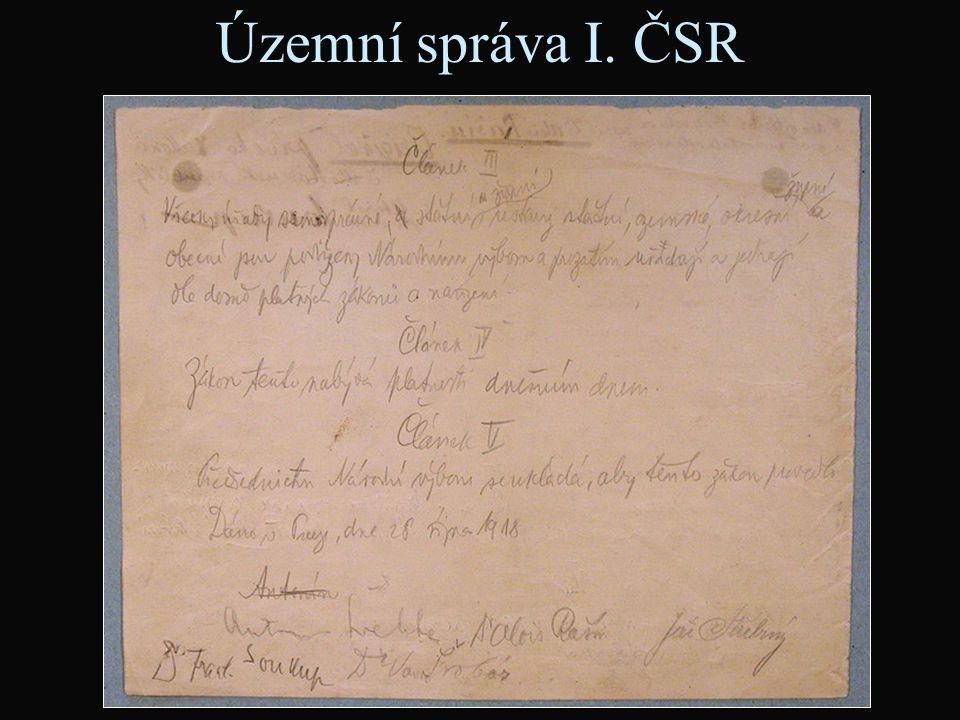 Územní správa I. ČSR