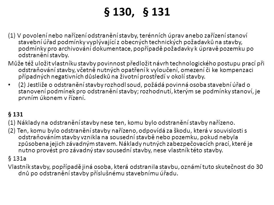 § 130, § 131