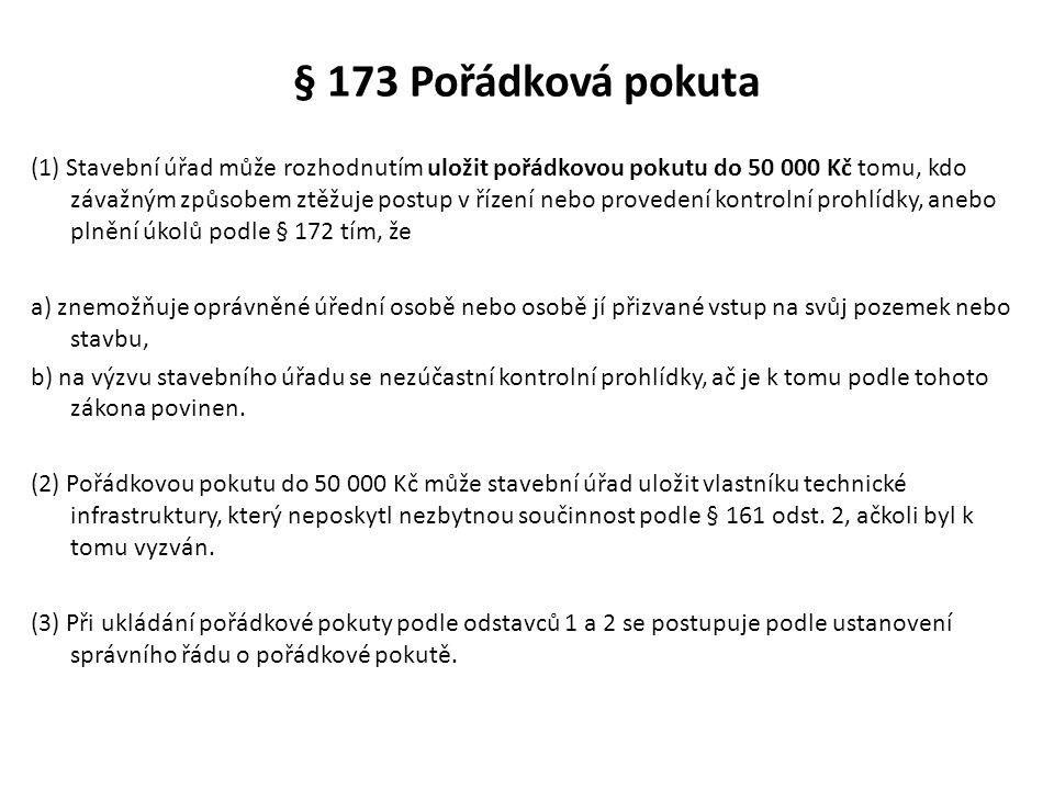 § 173 Pořádková pokuta