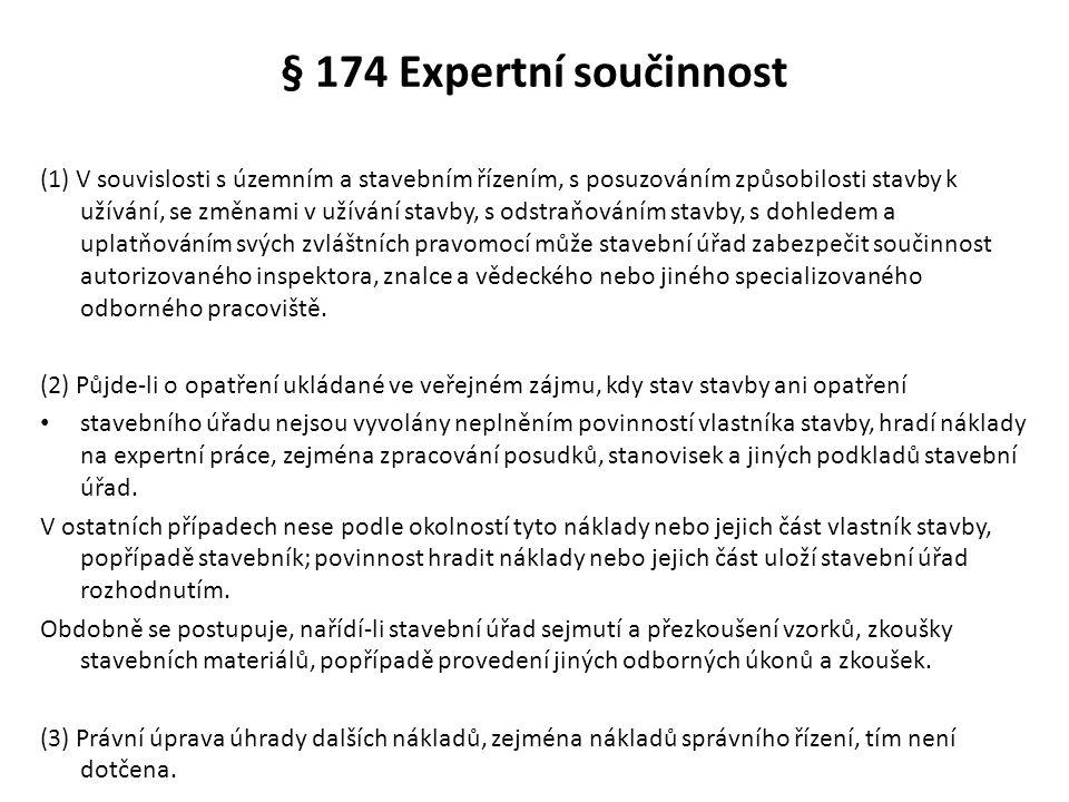 § 174 Expertní součinnost