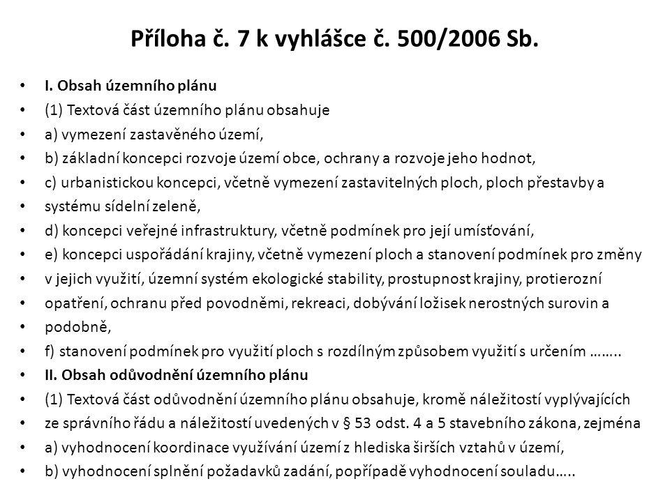 Příloha č. 7 k vyhlášce č. 500/2006 Sb.
