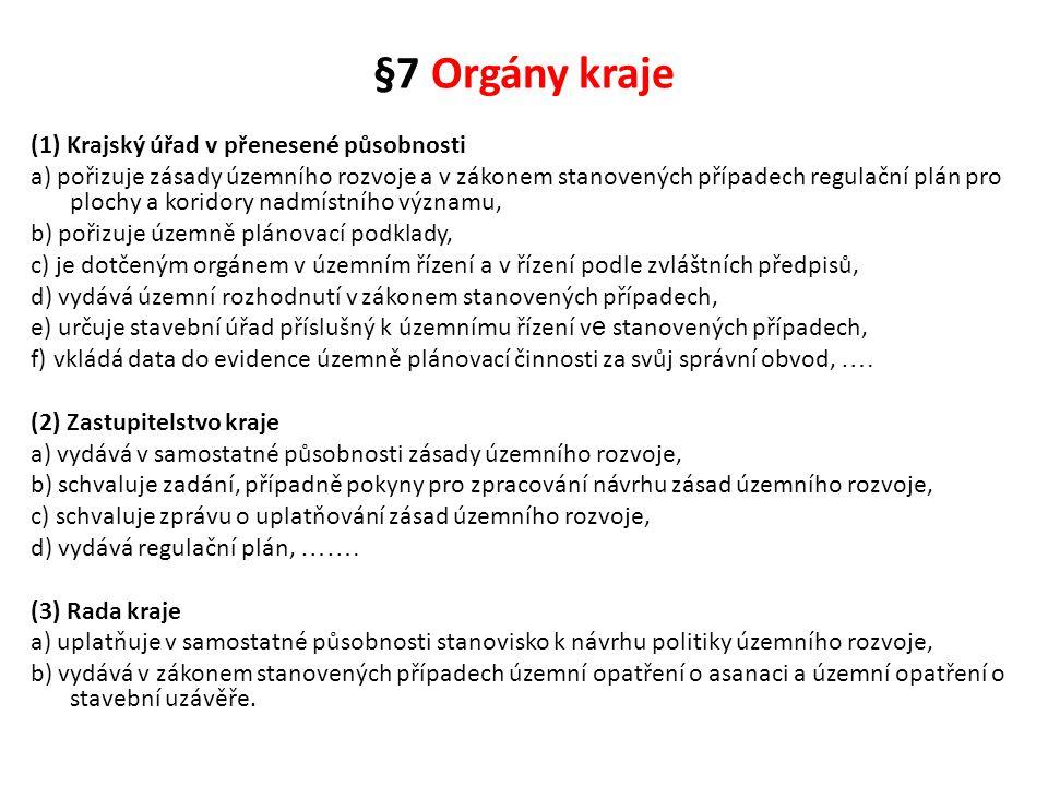 §7 Orgány kraje