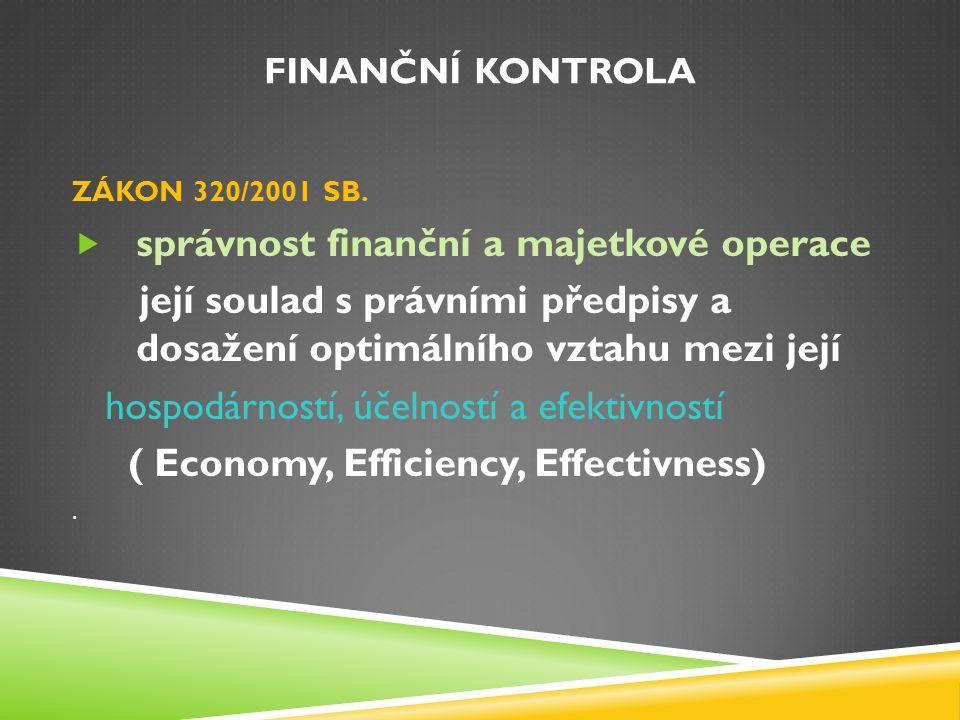 správnost finanční a majetkové operace