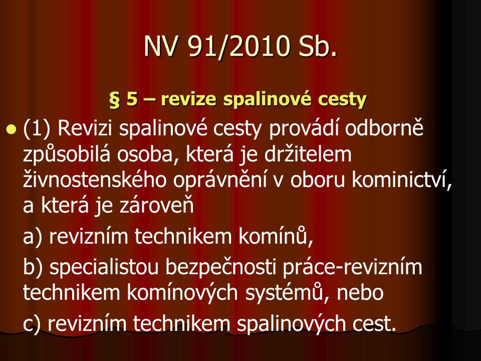§ 5 – revize spalinové cesty
