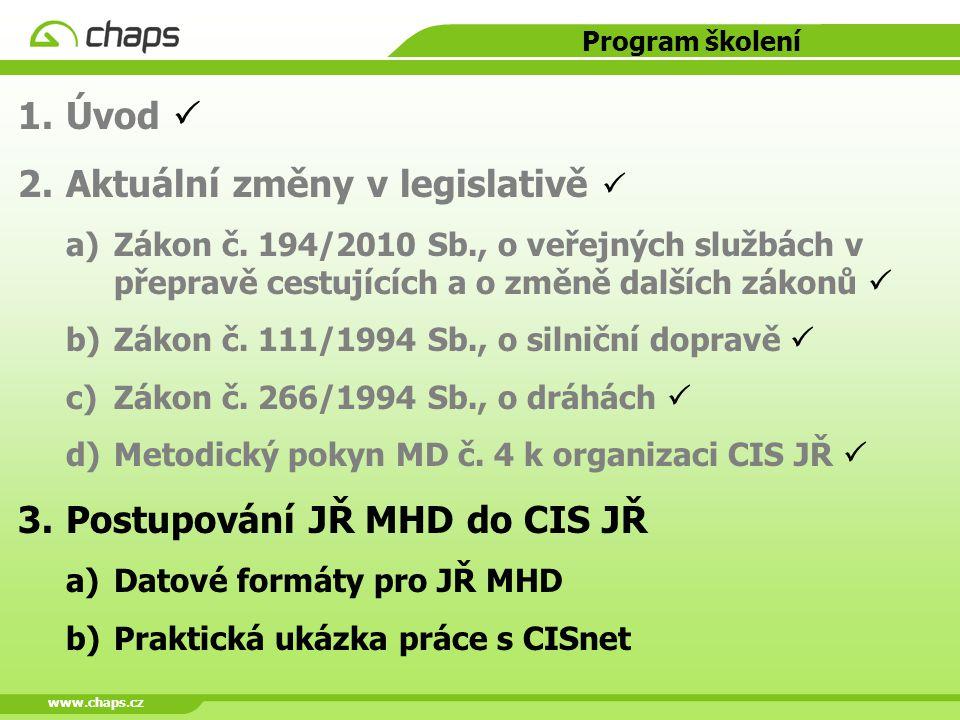 Aktuální změny v legislativě 