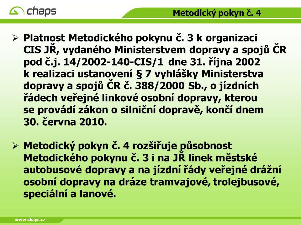 www.chaps.cz Metodický pokyn č. 4.