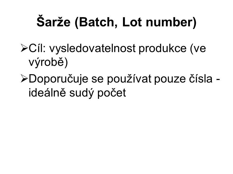 Šarže (Batch, Lot number)