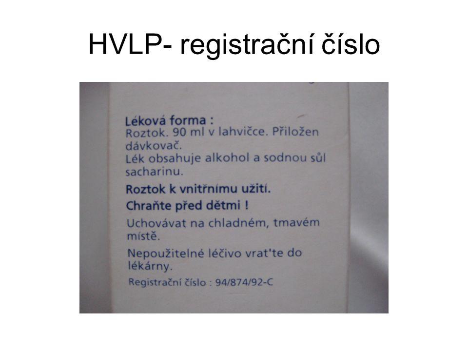 HVLP- registrační číslo