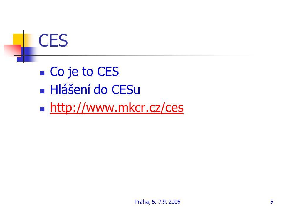 CES Co je to CES Hlášení do CESu http://www.mkcr.cz/ces