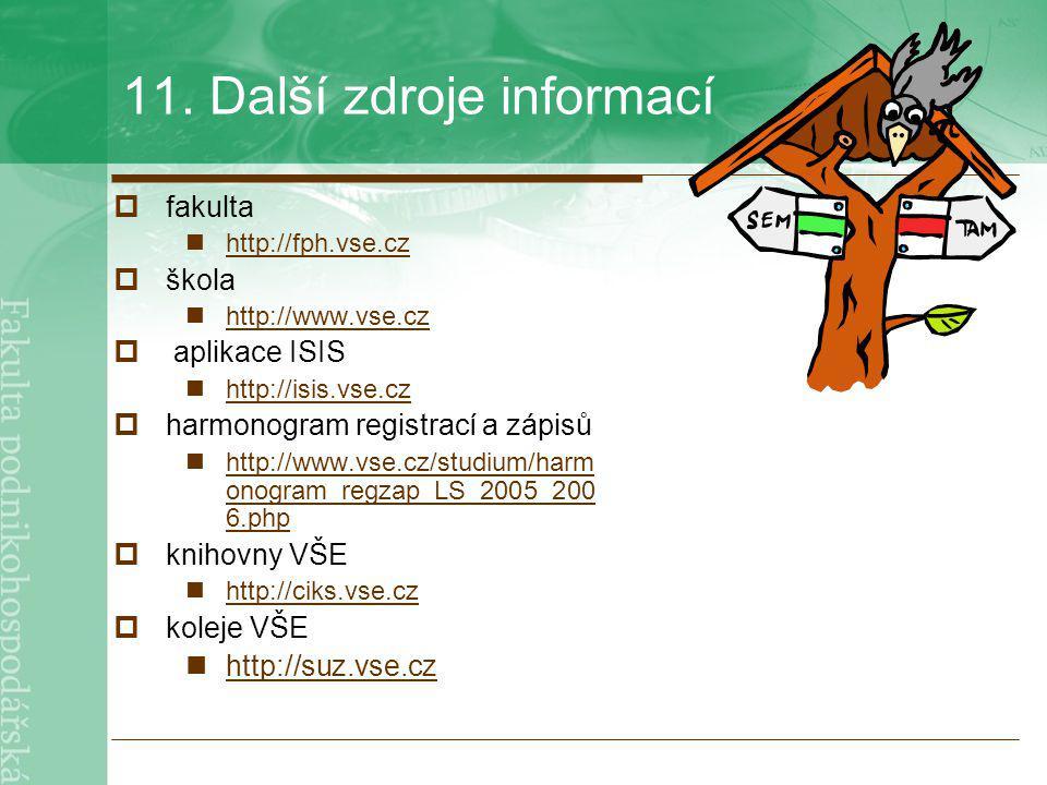 11. Další zdroje informací