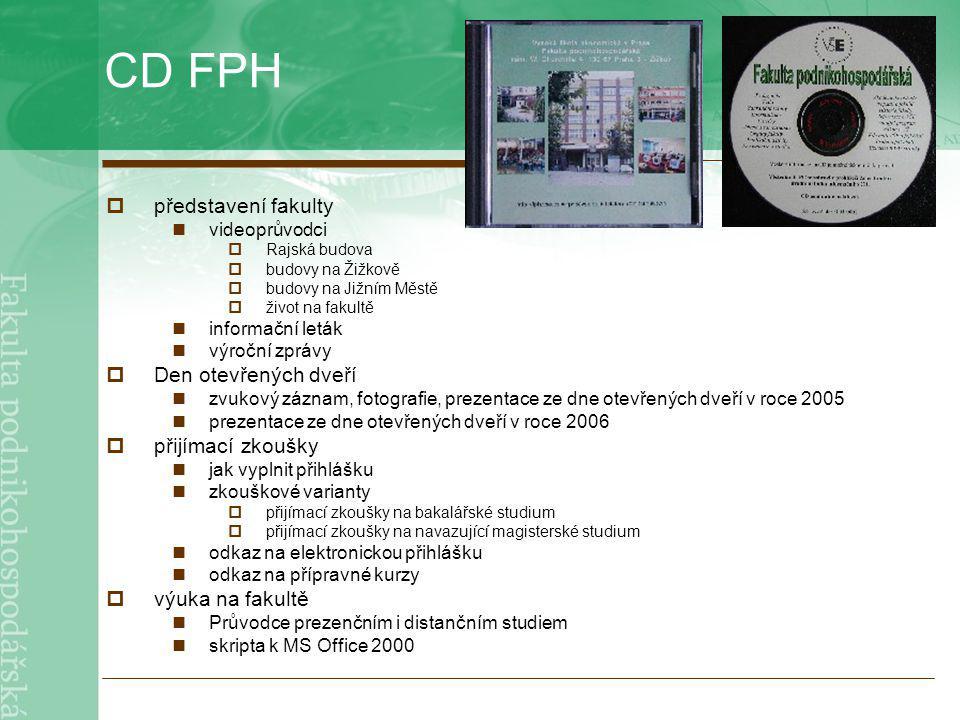 CD FPH představení fakulty Den otevřených dveří přijímací zkoušky