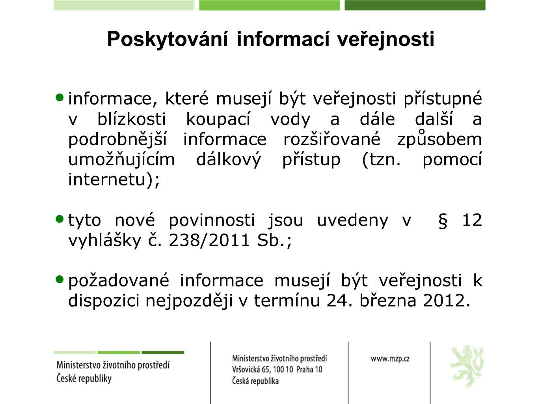 Poskytování informací veřejnosti
