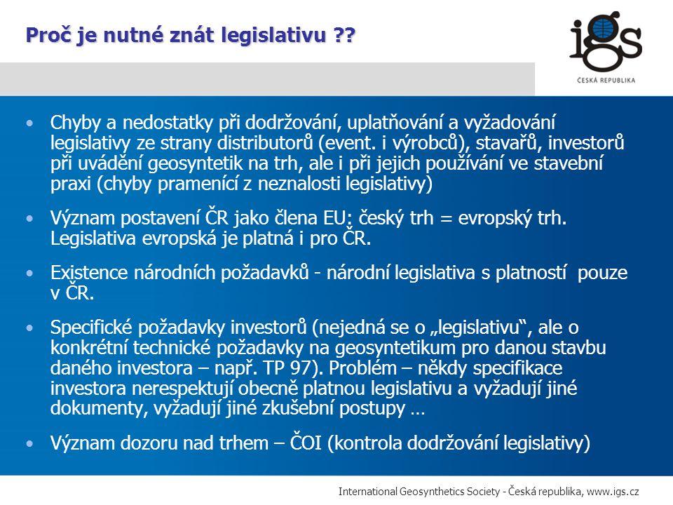 Proč je nutné znát legislativu