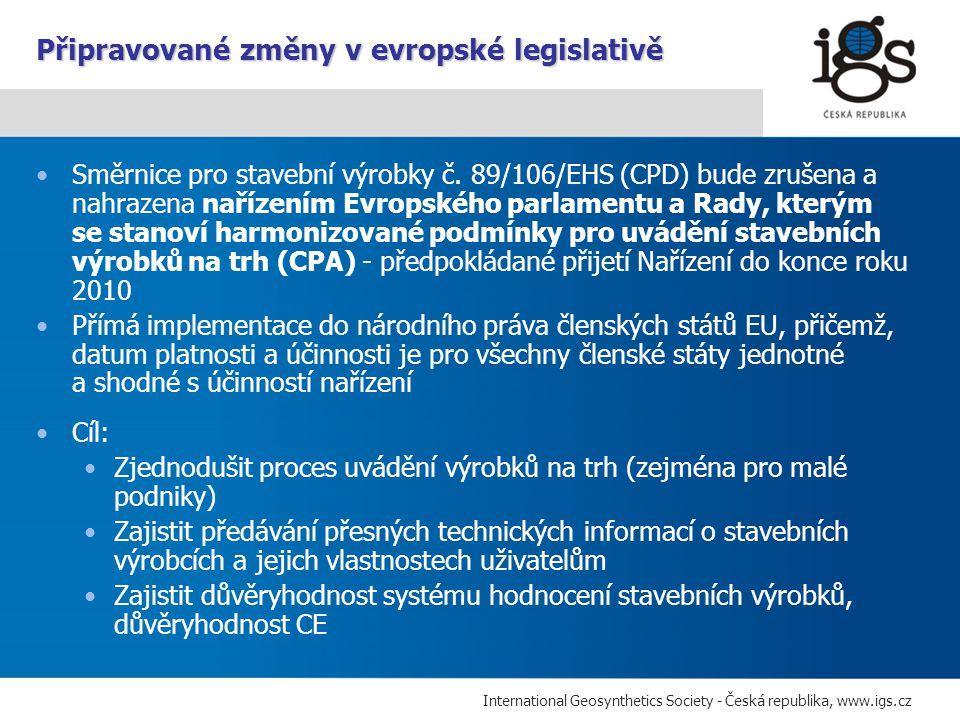 Připravované změny v evropské legislativě