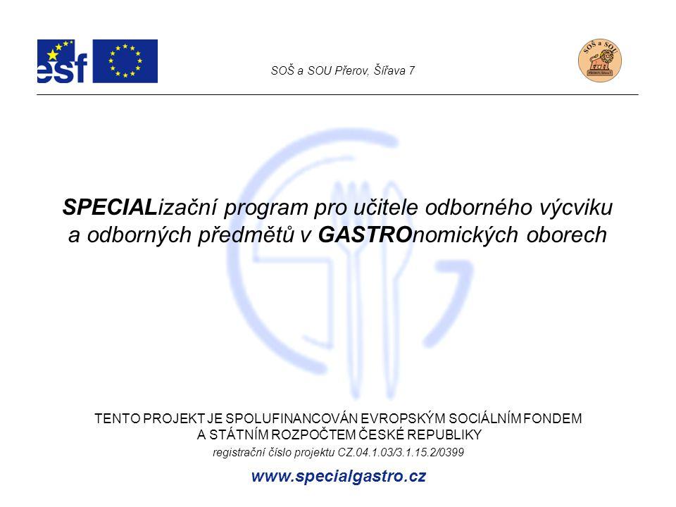 SPECIALizační program pro učitele odborného výcviku