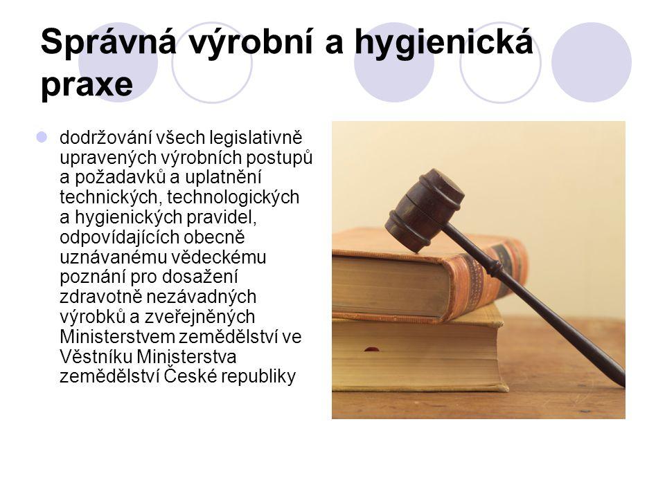 Správná výrobní a hygienická praxe