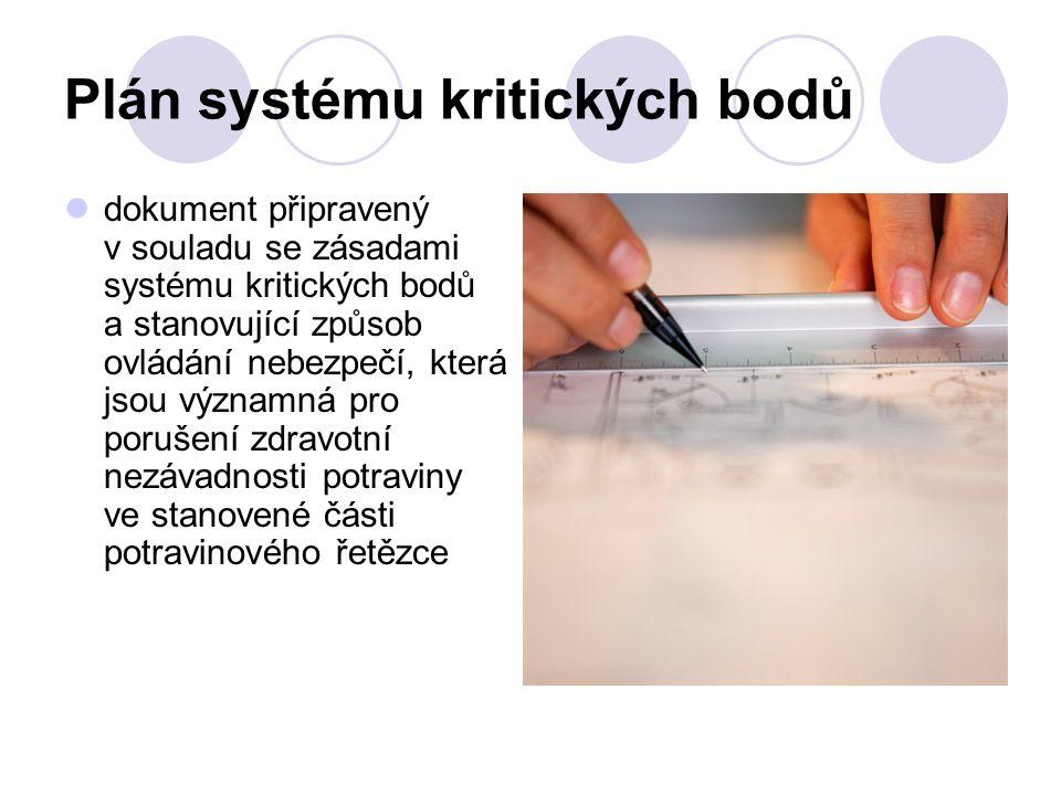 Plán systému kritických bodů