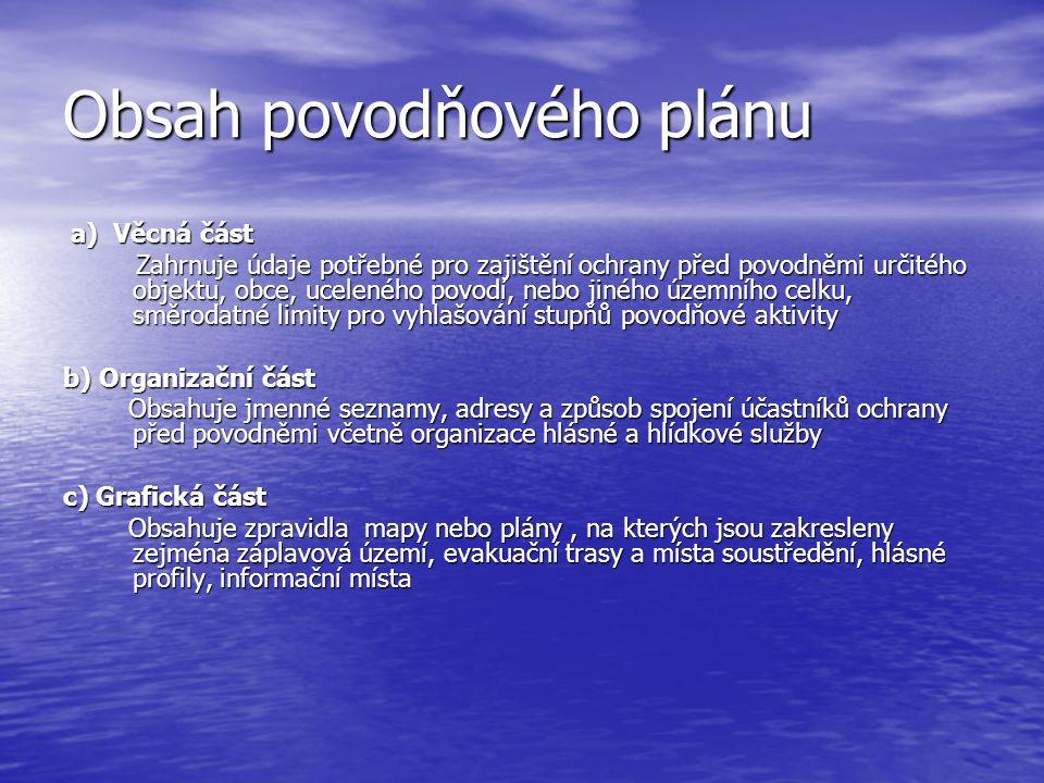 Obsah povodňového plánu