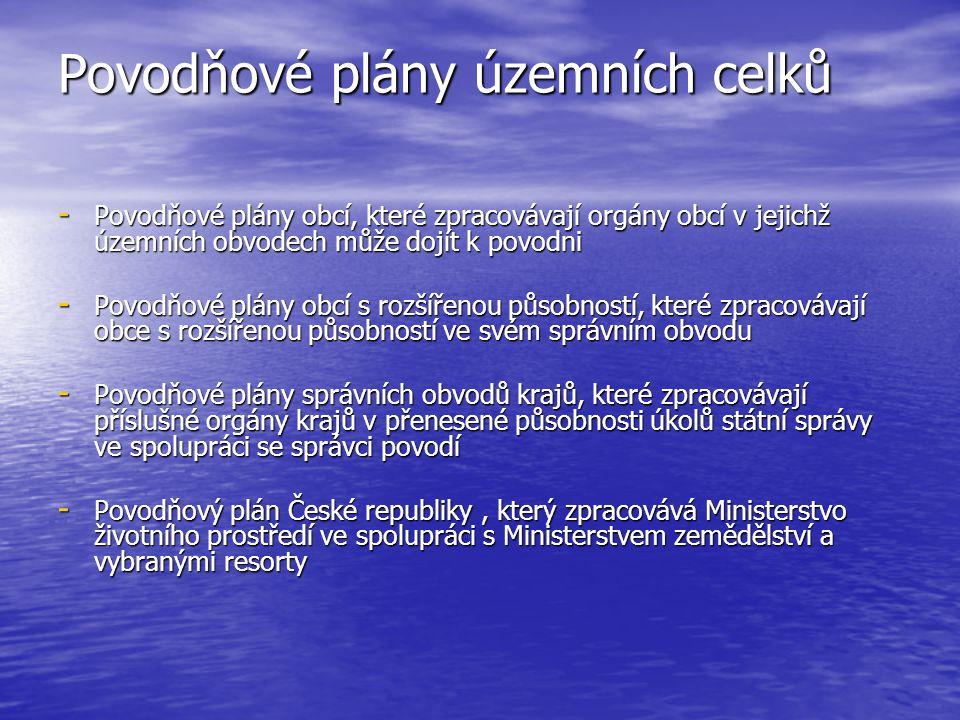 Povodňové plány územních celků