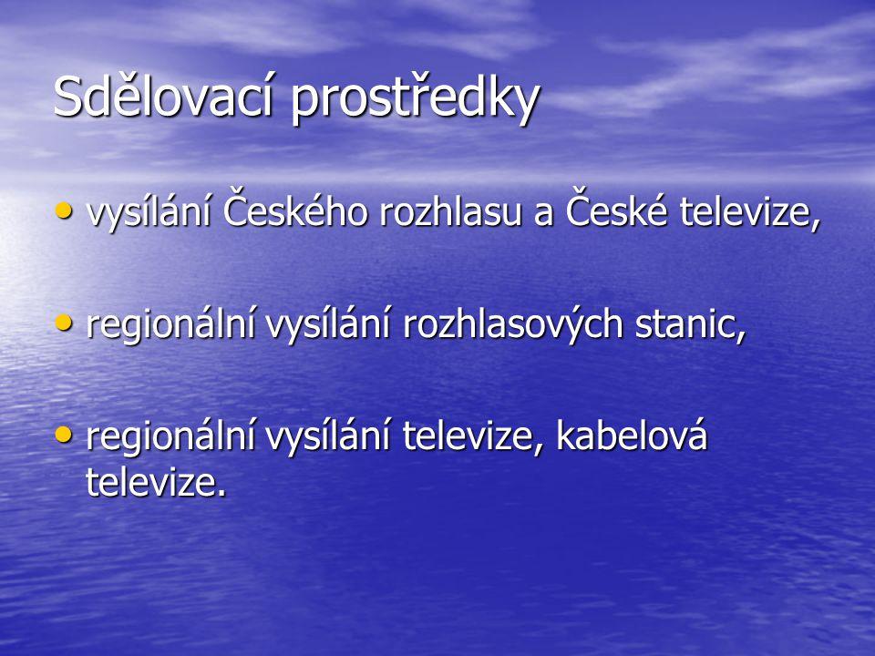 Sdělovací prostředky vysílání Českého rozhlasu a České televize,