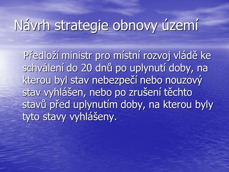 Návrh strategie obnovy území