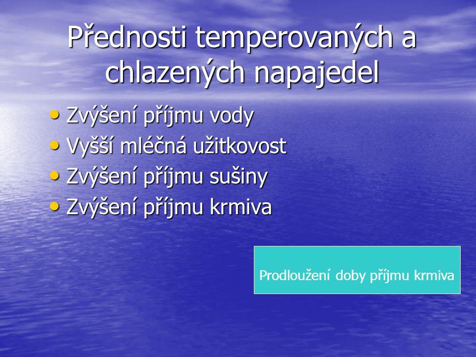Přednosti temperovaných a chlazených napajedel