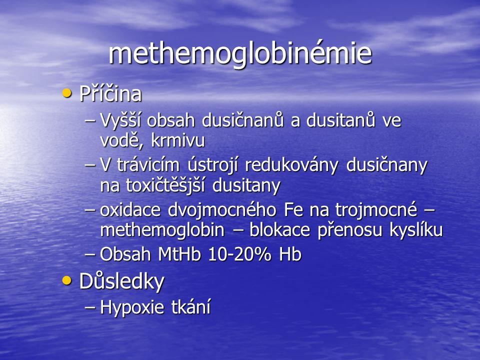 methemoglobinémie Příčina Důsledky
