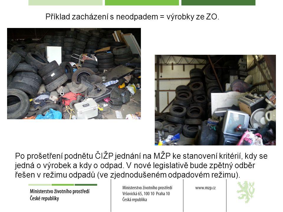 Příklad zacházení s neodpadem = výrobky ze ZO.
