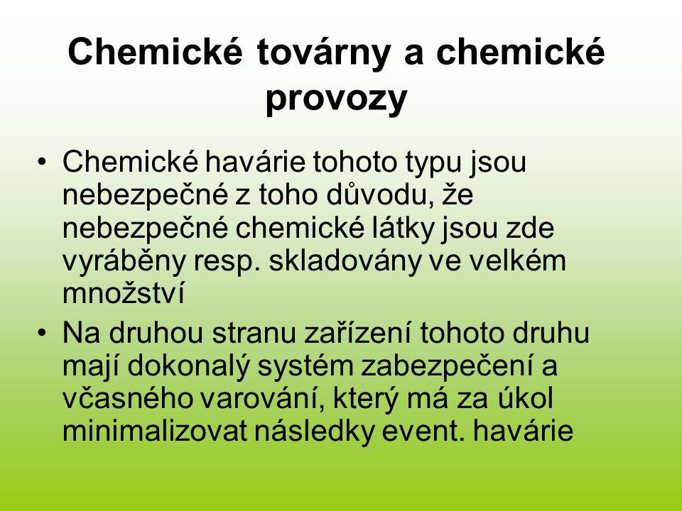 Chemické továrny a chemické provozy