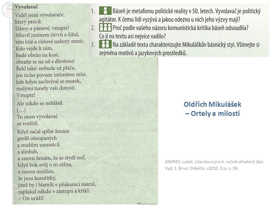 Oldřich Mikulášek – Ortely a milosti