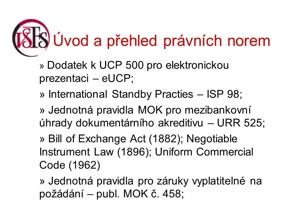 Úvod a přehled právních norem