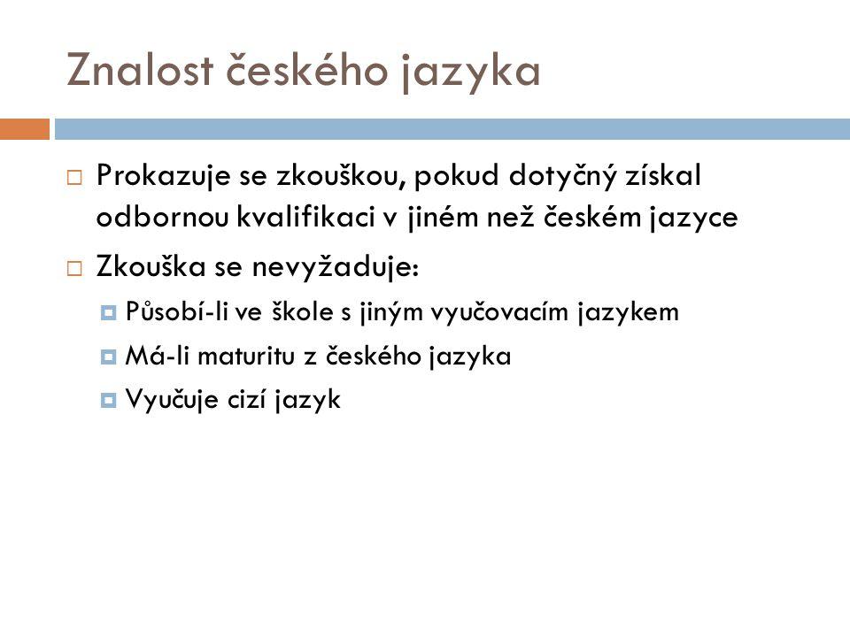 Znalost českého jazyka