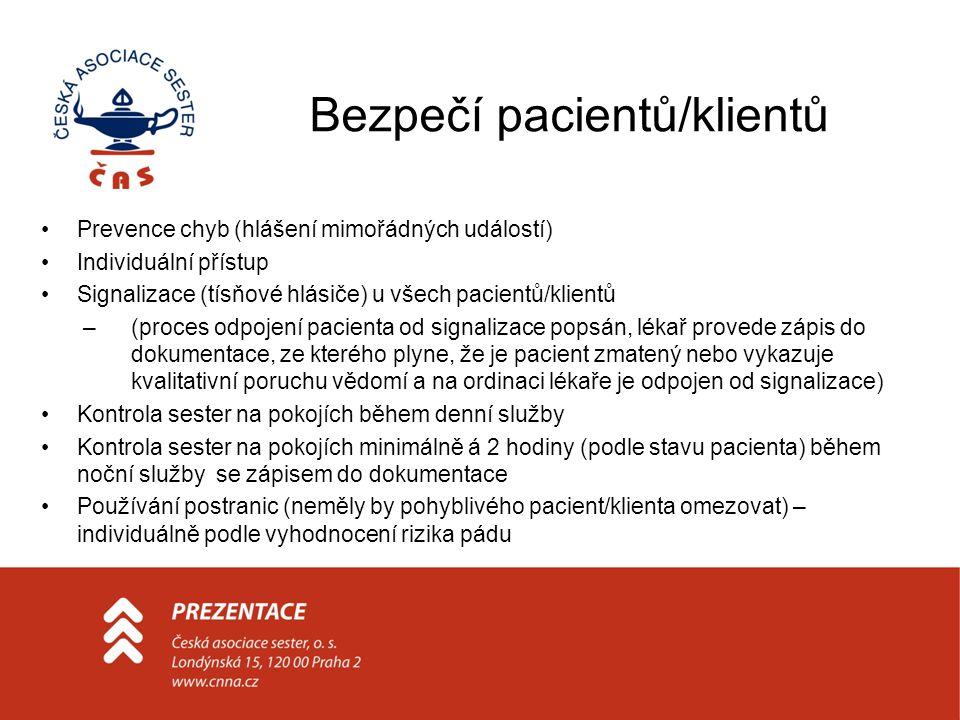 Bezpečí pacientů/klientů