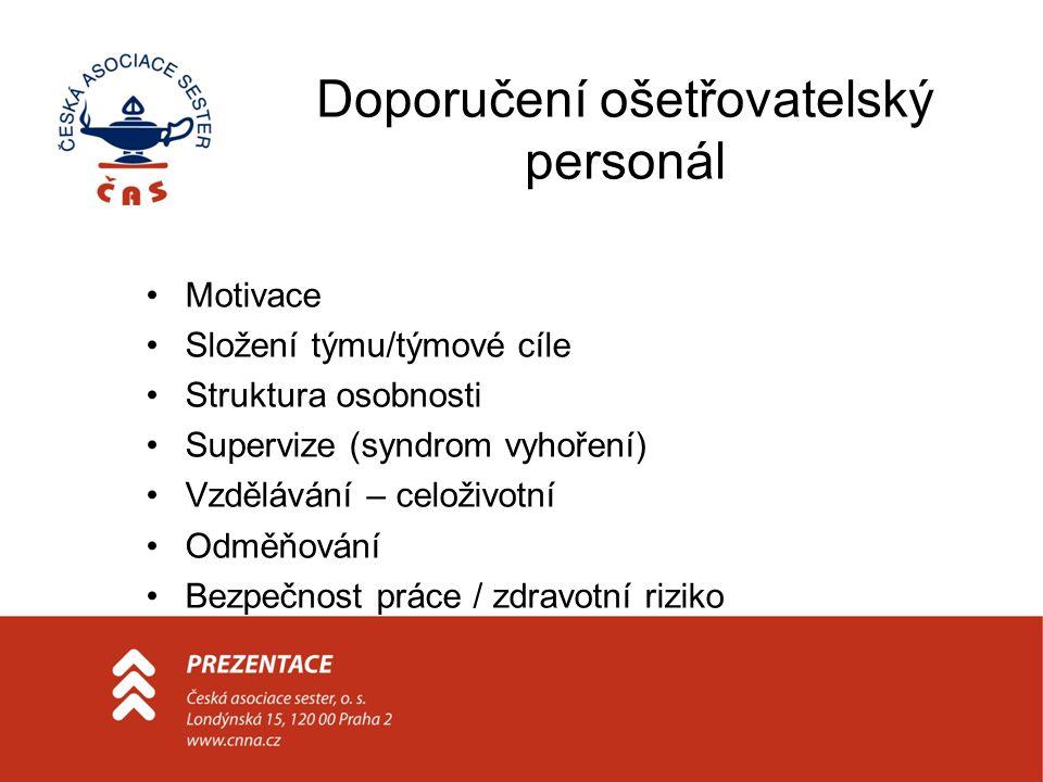 Doporučení ošetřovatelský personál