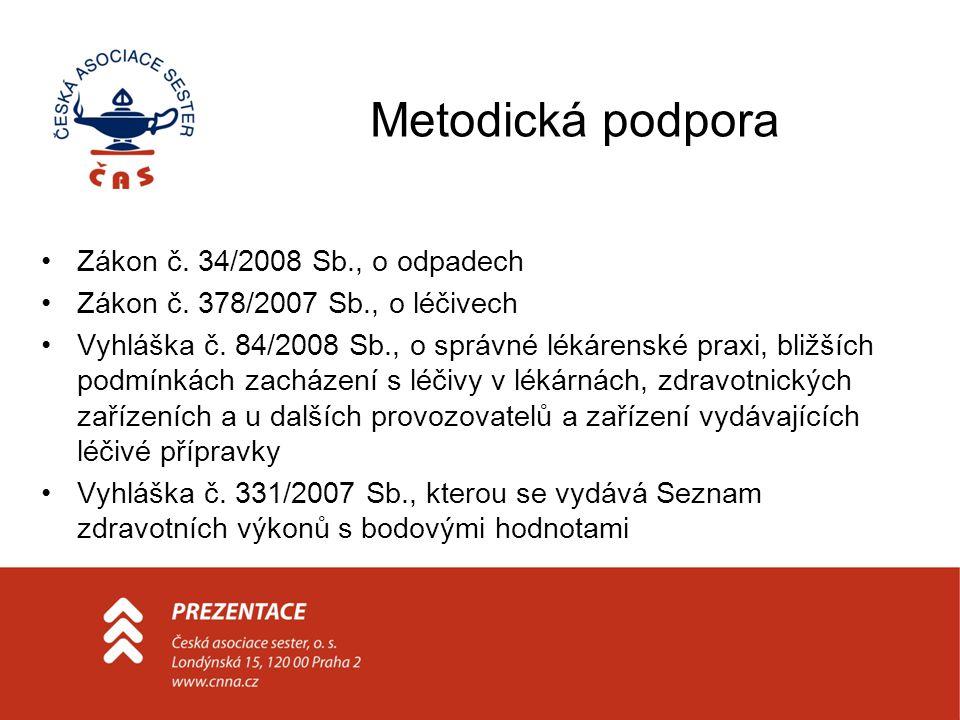 Metodická podpora Zákon č. 34/2008 Sb., o odpadech