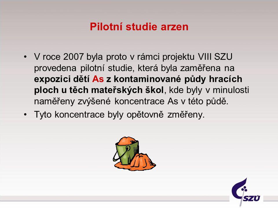Pilotní studie arzen