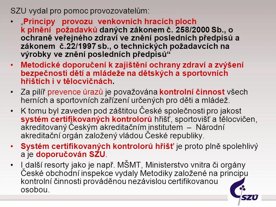 SZU vydal pro pomoc provozovatelům: