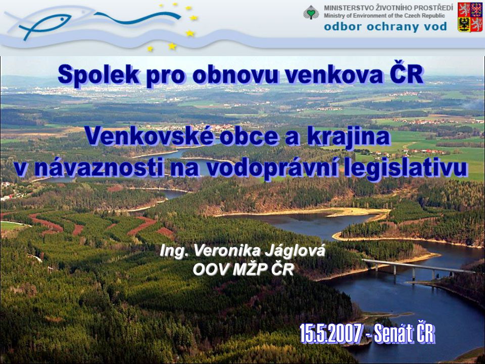 Spolek pro obnovu venkova ČR Venkovské obce a krajina
