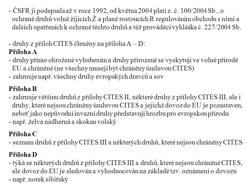 ČSFR ji podepsala až v roce 1992, od května 2004 platí z. č