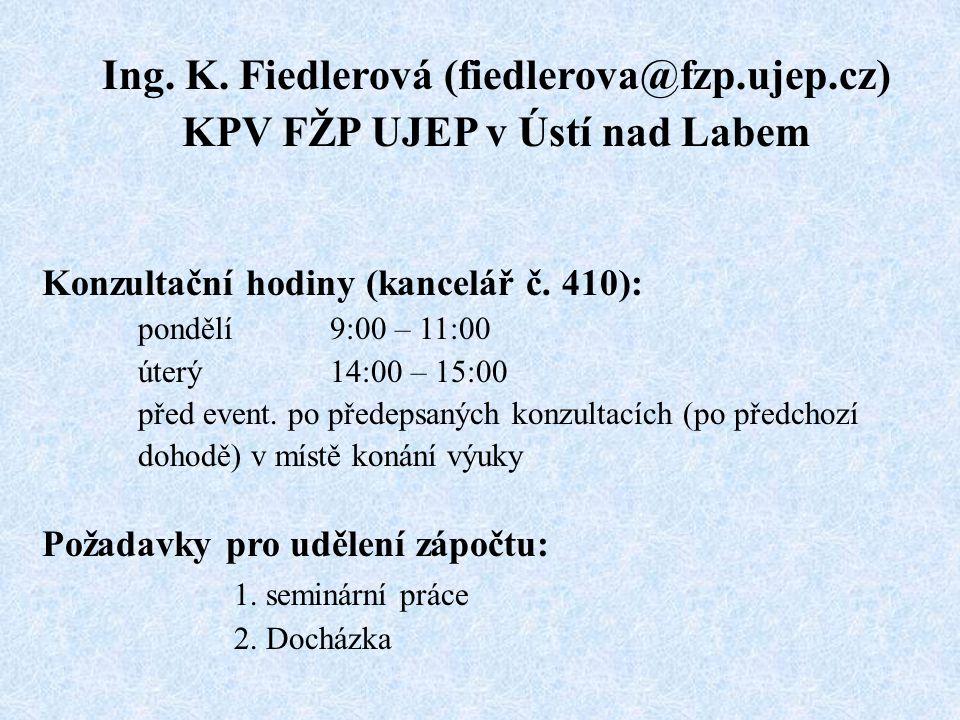 Ing. K. Fiedlerová (fiedlerova@fzp.ujep.cz)
