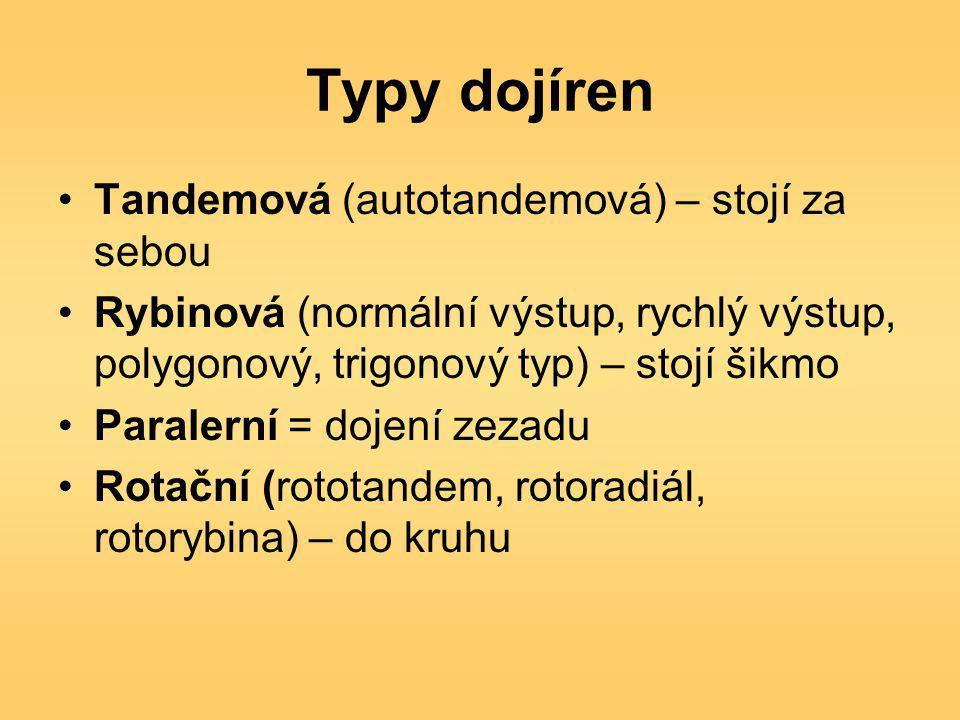 Typy dojíren Tandemová (autotandemová) – stojí za sebou