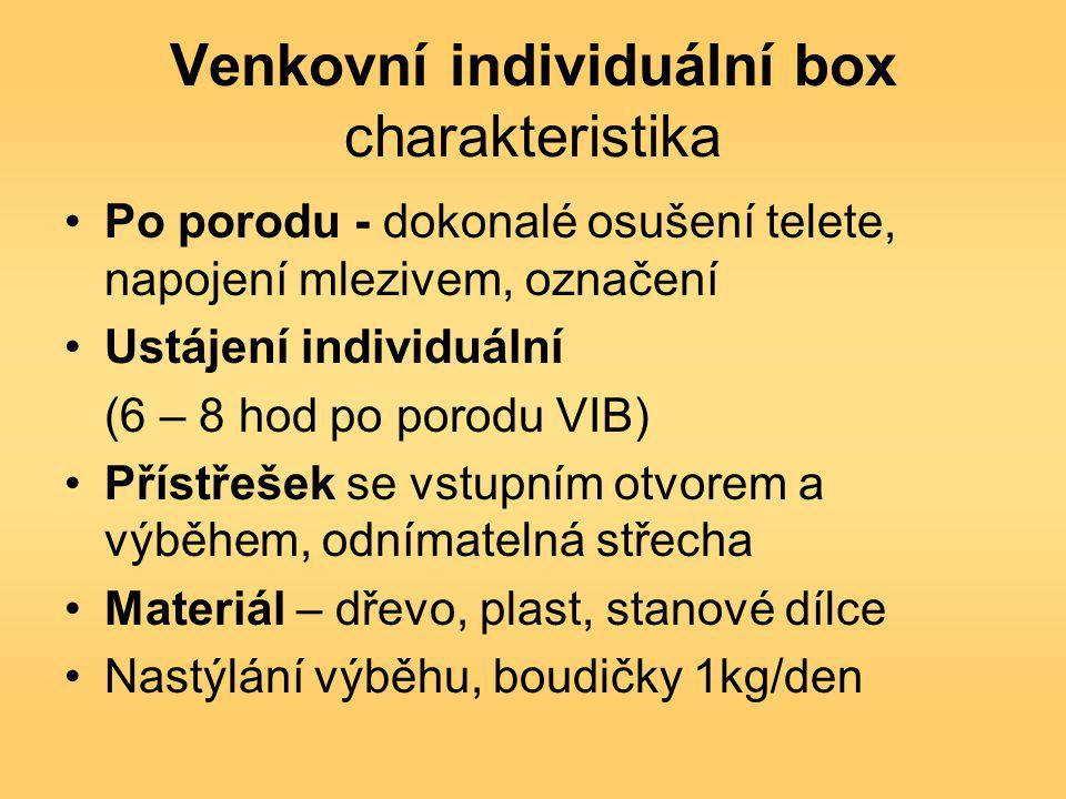 Venkovní individuální box charakteristika
