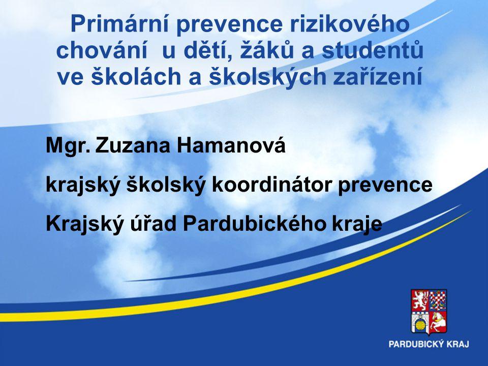 8.4.2017 Primární prevence rizikového chování u dětí, žáků a studentů ve školách a školských zařízení.